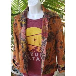 Boho Reversible Floral Animal Print Jacket SP